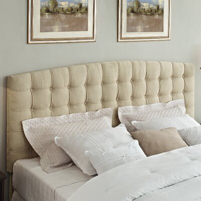 Alcott Hill Malvern King Upholstered Panel Headboard