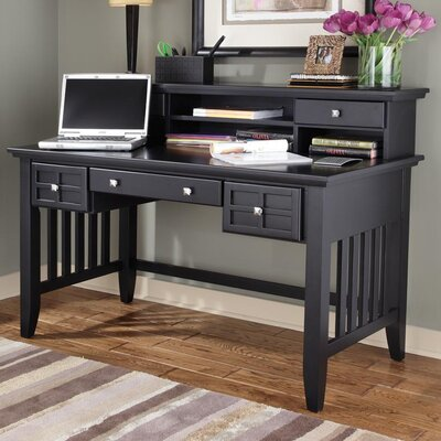 Lakeview Writing Desk with Hutch Finish: Black