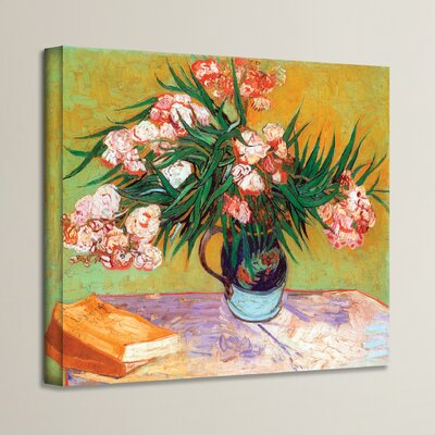 'Oleander' by Vincent Van Gogh Painting Print on Canvas Size: 14