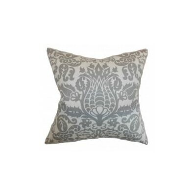 Botkins Floral Cotton Throw Pillow Cover Color: Storm