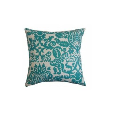 Botkins Floral Cotton Throw Pillow Cover Color: Turquoise