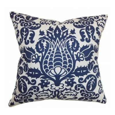 Botkins Floral Cotton Throw Pillow Cover Color: Snorkel
