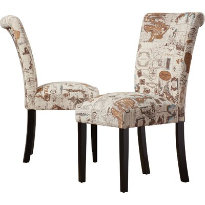 Proctorville Upholstered Dining Chair Upholstery: Brown Linen