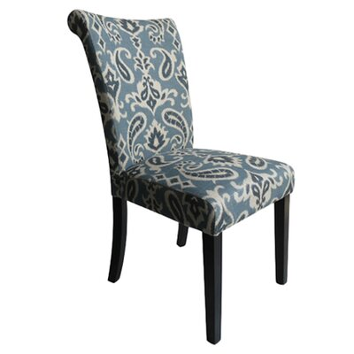 Proctorville Upholstered Dining Chair Upholstery: Blue Linen