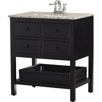 Gettysburg 30 Single Bathroom Vanity Set Base Finish: Espresso