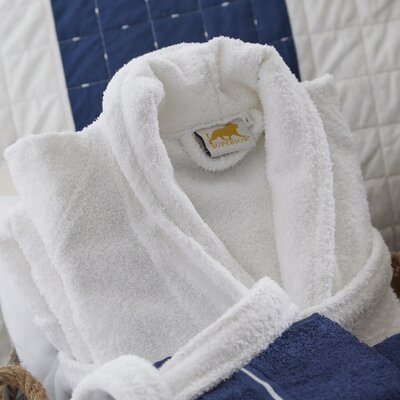 Patric Bathrobe Color: White, Size: Medium