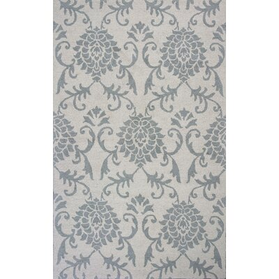 Garrettsville Hand-Hooked Ivory/Gray Area Rug Rug Size: 8 x 10