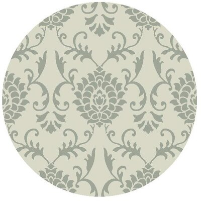 Garrettsville Hand-Hooked Ivory/Gray Area Rug Rug Size: Round 5