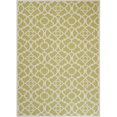 Tarlton Garden Tan/White Indoor/Outdoor Area Rug Rug Size: Rectangle 53 x 75
