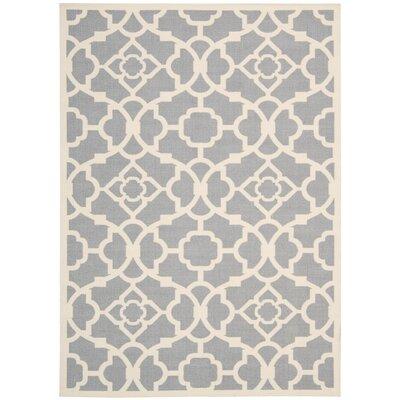 Kenton Gray/White Indoor/Outdoor Area Rug Rug Size: 10 x 13