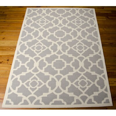 Kenton Gray/White Indoor/Outdoor Area Rug Rug Size: Rectangle 53 x 75