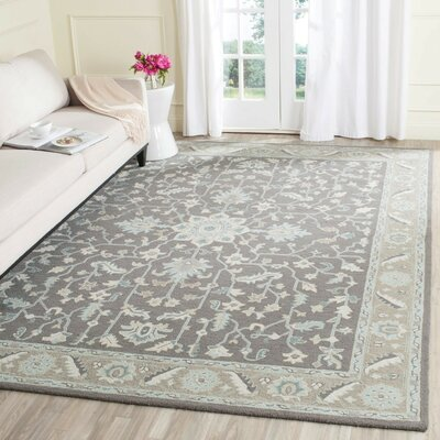 Kilbourne Hand-Tufted Dark Gray/Light Brown Area Rug Rug Size: 8 x 10