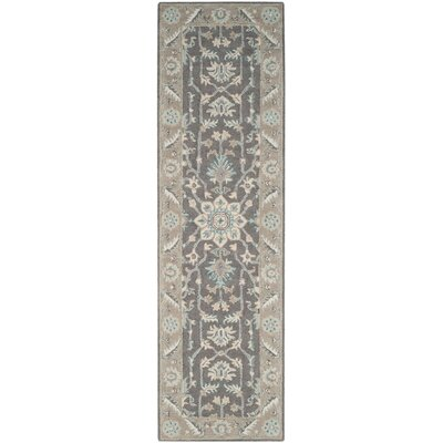 Kilbourne Hand-Tufted Dark Gray/Light Brown Area Rug Rug Size: Runner 23 x 8