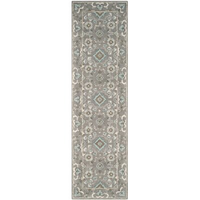Kilbourne Hand-Tufted Gray Area Rug Rug Size: Runner 23 x 8