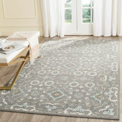 Kilbourne Hand-Tufted Gray Area Rug Rug Size: Rectangle 4 x 6