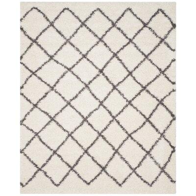 Laurelville Ivory / Dark Gray Area Rug Rug Size: 8 x 10