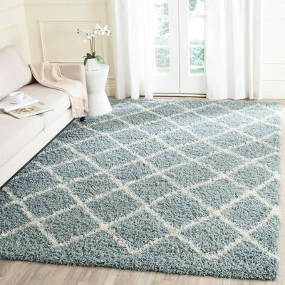 Laurelville Seafoam / Ivory Area Rug Rug Size: Rectangle 10 x 14