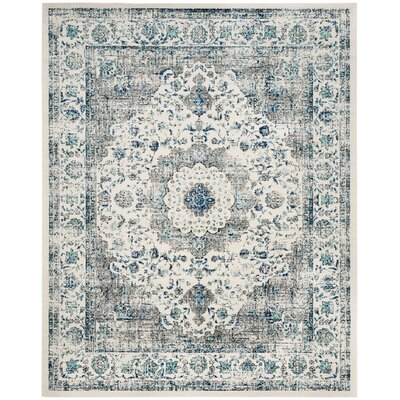 Laurelville Gray/Blue Area Rug Rug Size: 11 x 15