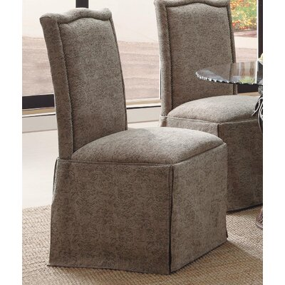 Burley Oak Parsons Chair Upholstery: Gray / Olive Floral