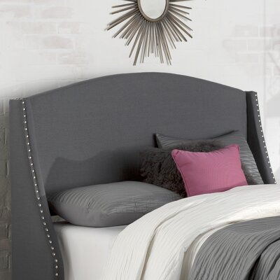 Drumagorgan Upholstered Wingback Headboard Size: Full/Queen, Upholstery: Magnet Grey
