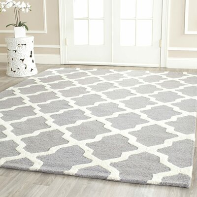 Sugar Pine Hand-Tufted Gray Area Rug Rug Size: Rectangle 76 x 96