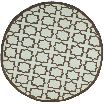 Warren Handmade Light Blue Area Rug Rug Size: Round 6
