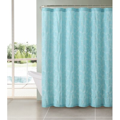 Royalwood Polyester Shower Curtain Color: Aqua