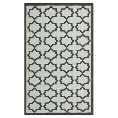 Warren Handmade Light Blue Area Rug Rug Size: Rectangle 5 x 8
