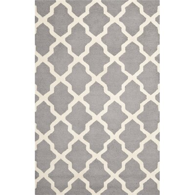 Sugar Pine Hand-Tufted Gray Area Rug Rug Size: 6 x 9