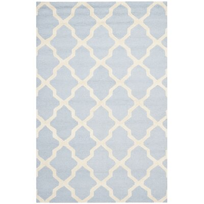 Sugar Pine Hand-Tufted Blue/Ivory Area Rug Rug Size: 5' x 8'