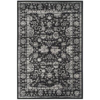 Bainsby Black/Light Grey Area Rug Rug Size: 67 x 92