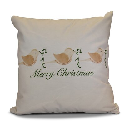 Decorative Holiday Word Print Throw Pillow Size: 18 H x 18 W, Color: Brown