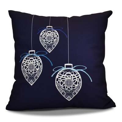 Decorative Holiday Geometric Print Throw Pillow Color: Navy Blue, Size: 26 H x 26 W