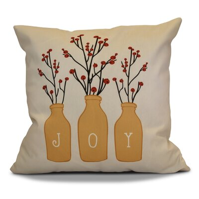 Decorative Holiday Throw Pillow Size: 16 H x 16 W, Color: Gold