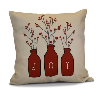 Decorative Holiday Throw Pillow Size: 20 H x 20 W, Color: Red