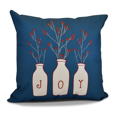 Decorative Holiday Throw Pillow Size: 16 H x 16 W, Color: Teal