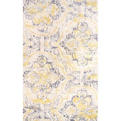 Zanesville Ivory/Yellow Area Rug Rug Size: 76 x 96