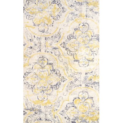 Zanesville Ivory/Yellow Area Rug Rug Size: 86 x 116