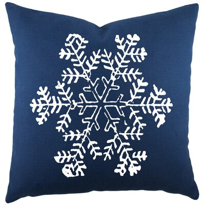 Mifflin Cotton Throw Pillow Color: Navy / White