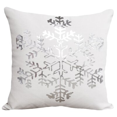Mifflin Cotton Throw Pillow Color: White / Silver