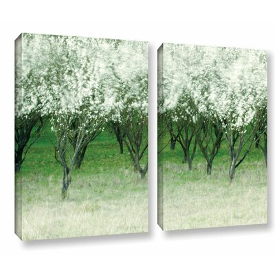 Spring Wind 2 Piece Graphic Art on Wrapped Canvas Set