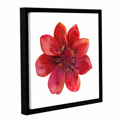Red Flower Framed Painting Print Size: 10