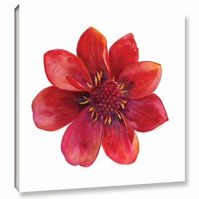 Red Flower Painting Print on Wrapped Canvas Size: 10