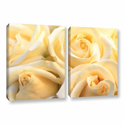 Crème Fraiche 2 Piece Photographic Print on Canvas Set