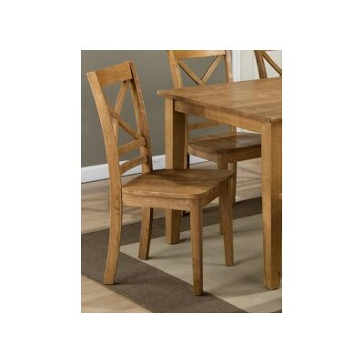 Antrim Solid Wood Dining Chair (Set of 2) Finish: Honey