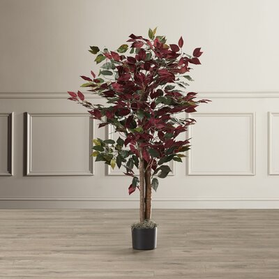 Polyester Blend Bush Tree in Round Pot