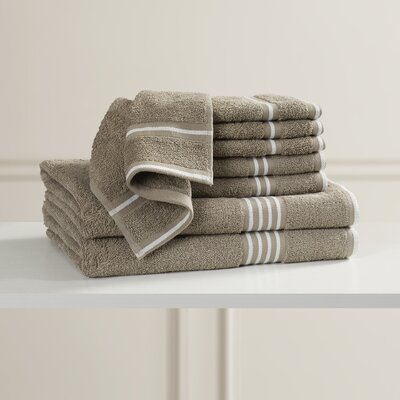 Egyptian Quality Cotton 8 Piece Towel Set Color: Taupe