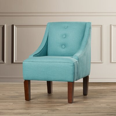 Moorcroft Linen Swoop Armchair Upholstery: Linen Laguna