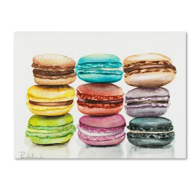 9 Macarons Painting Print on Wrapped Canvas
