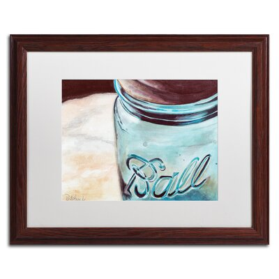 Ball Jar Framed Painting Print